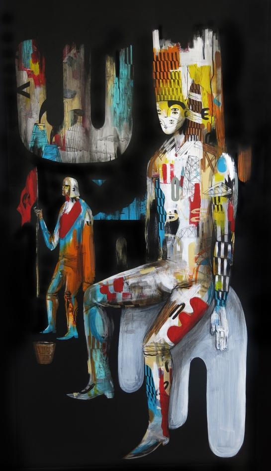 """""""El Descanso"""". Acrílico sobre tela 150x80 cm. 2014 // acrylic on canvas"""
