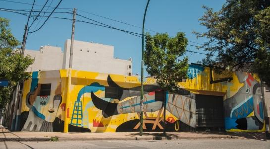 Mural para el proyecto #Oficio Artista de la amiga galería Kosovo, en Córdoba, Argentina.